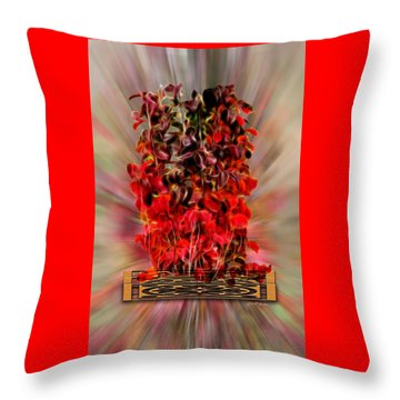Leaf Explosion Throw Pillow by Ericamaxine Price