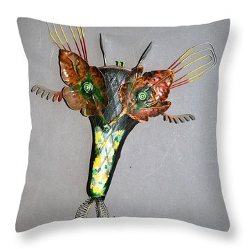Leaf Mask Throw Pillow