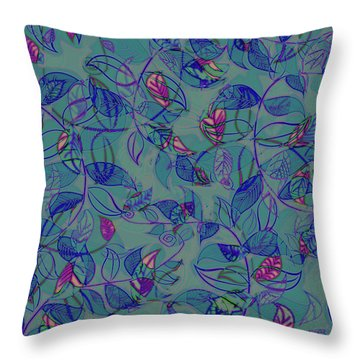 Leaf Mesh Throw Pillow by Linde Townsend