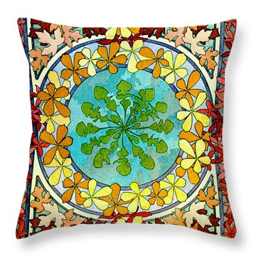 Leaf Motif 1901 Throw Pillow by Padre Art