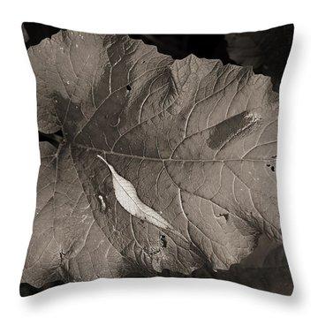 Leaf On A Leaf Throw Pillow
