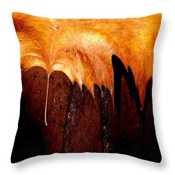 Leaf On Bricks 2 Throw Pillow by Tim Allen