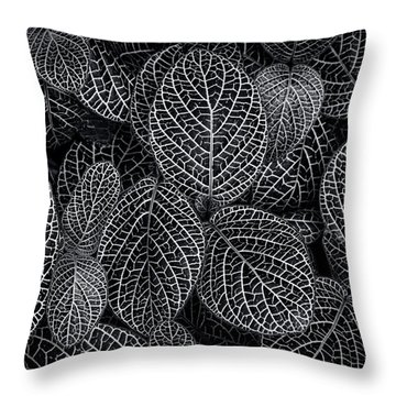 Throw Pillow featuring the photograph Leaf Pattern by Wayne Sherriff