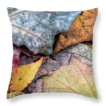 Leaf Pile Up Throw Pillow