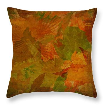 Leaf Texture And Background Throw Pillow