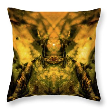 Leaf Water Worrior Throw Pillow