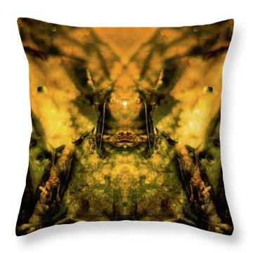Leaf Water Worrior Throw Pillow