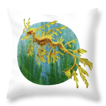 Leafy Dragon Throw Pillow
