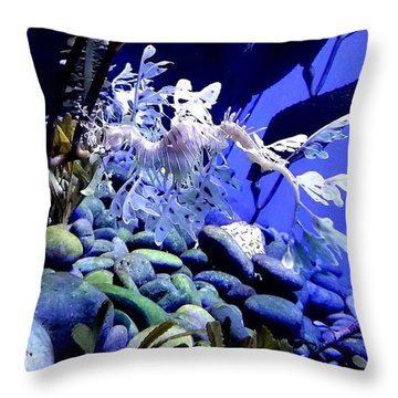 Throw Pillow featuring the photograph Leafy Sea Dragon by Kelly Mills
