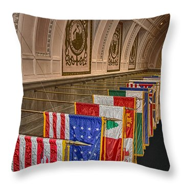 League Of Nations Throw Pillow