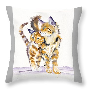 Lean On Me Throw Pillow
