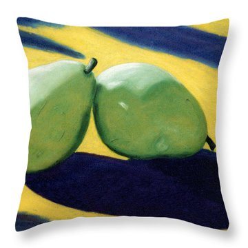 Throw Pillow featuring the pastel Lean On Me by Jan Amiss