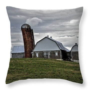 Throw Pillow featuring the photograph Lean On Me by Robert Geary