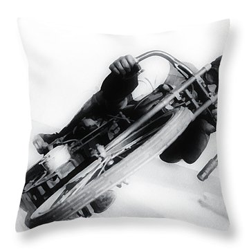 Leaning Hard Throw Pillow by Bill Cannon