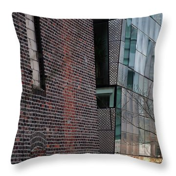 Leaning In At The High Line Throw Pillow by Rona Black
