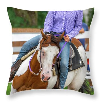 Throw Pillow featuring the photograph Leaning Into The Turn by Guy Whiteley