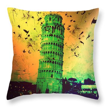 Leaning Tower Of Pisa 32 Throw Pillow