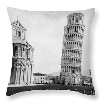 Leaning Tower Of Pisa Italy - C 1902  Throw Pillow by International  Images