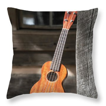 Leaning Uke Throw Pillow