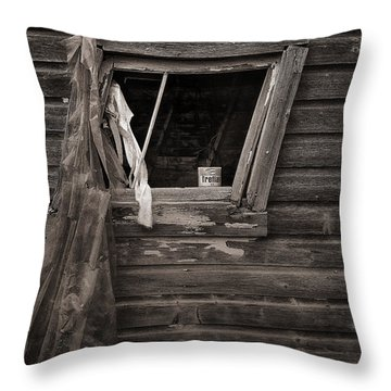 Leaning Window Throw Pillow