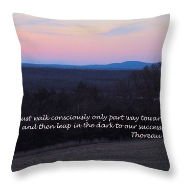 Leap In The Dark Throw Pillow