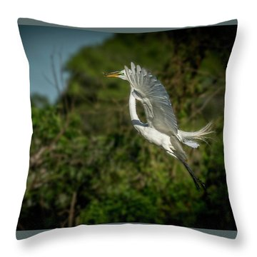 Throw Pillow featuring the photograph Leap Of Faith by Marvin Spates