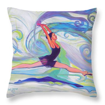 Leap Of Joy Throw Pillow
