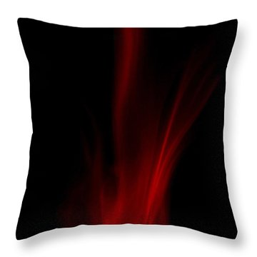 Leaping Flames Throw Pillow