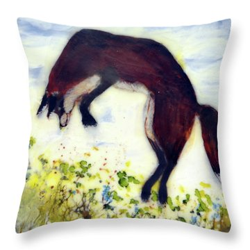 Leaping Fox 1 Throw Pillow
