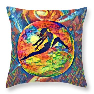 Leaping Home Throw Pillow