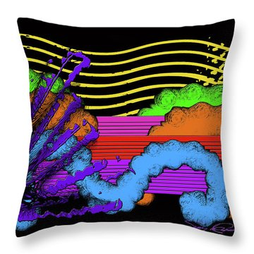 Leaps And Bound In The Sunshine Throw Pillow