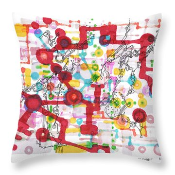 Learning Circuit Throw Pillow