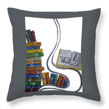 Learning Lamed Throw Pillow