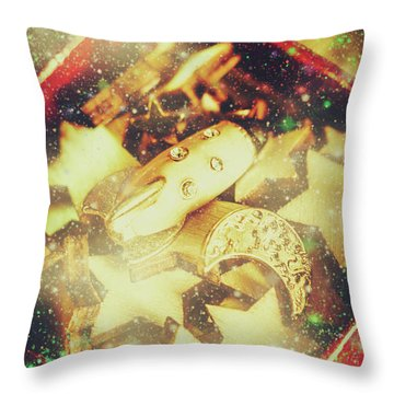 Learning The Magic Of Stars And Space Throw Pillow
