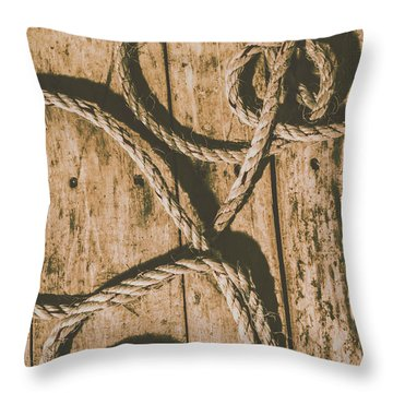 Throw Pillow featuring the photograph Learning The Ropes by Jorgo Photography - Wall Art Gallery