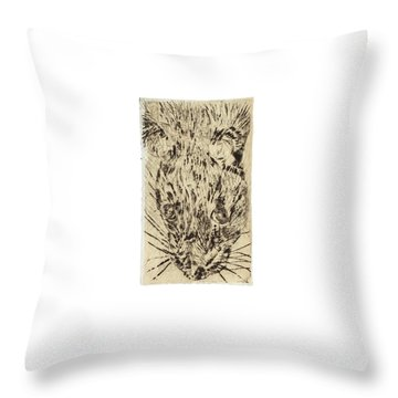 Learning To Love Rats More #2 Throw Pillow