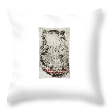Learning To Love Rats More #3 Throw Pillow