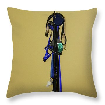 Leash Lady Just Hanging On The Wall Throw Pillow