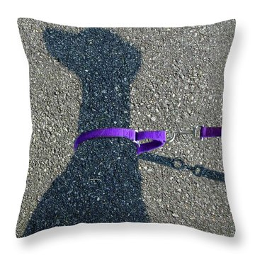 Leash Required On Sunny Days Throw Pillow