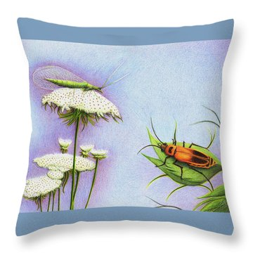 Leather And Lace... For The Gardeners Throw Pillow by Danielle R T Haney