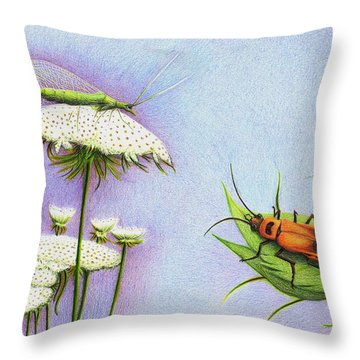 Leather And Lace... For The Gardeners Throw Pillow