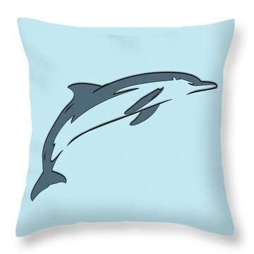 leather Dolphin Throw Pillow