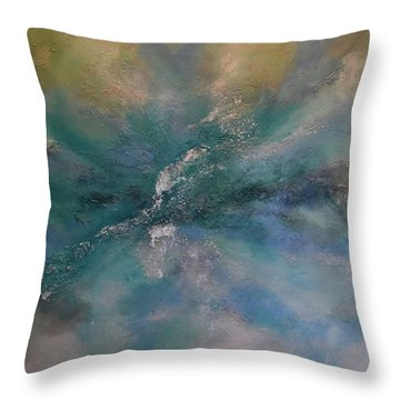 Throw Pillow featuring the painting Leave It To The Breeze by Tamara Bettencourt
