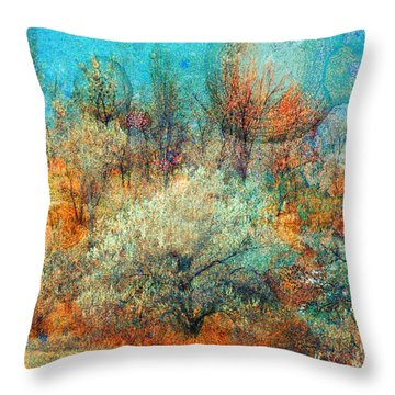 Leave It To The Trees To Dance In The Cold Throw Pillow by Tara Turner