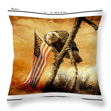 Leave My Flag Alone Throw Pillow