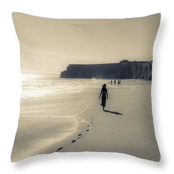 Leave Nothing But Footprints Throw Pillow