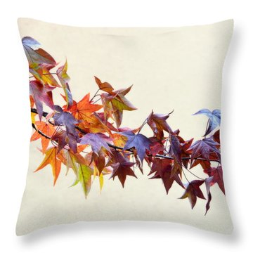 Leaves Of Many Colors Throw Pillow