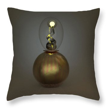 ' Leave The Light On ' Throw Pillow