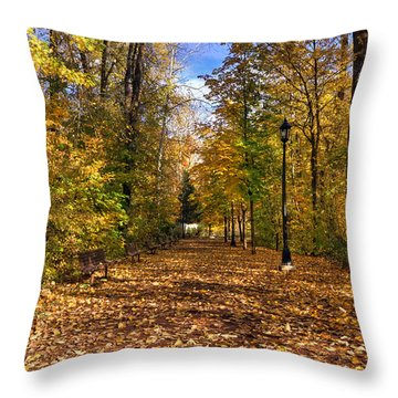 Leavenworth Waterfront Park Throw Pillow