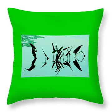 Leaves And Dragonflies 2 Throw Pillow